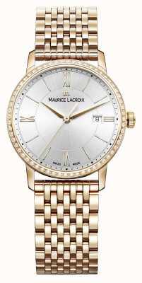 Maurice Lacroix Eliros inoxidable de las mujeres de color rosa PVD de acero con 60 diamantes EL1094-PVPD6-112-1