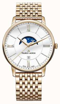 Maurice Lacroix Mens Eliros reloj moonphase chapados en oro EL1108-PVP06-112-1