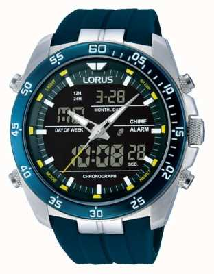 Lorus Mens alarma digital de acero inoxidable RW617AX9