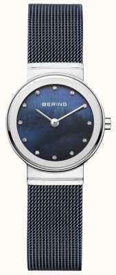 Bering Correa azul marino mujer esfera azul marino minimalista 10126-307