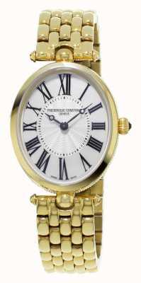 Frederique Constant Clásicos arte deco para mujer chapada en oro amarillo de madre perla FC-200MPW2V5B
