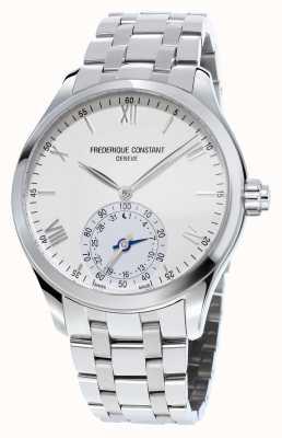 Frederique Constant Horological SmartWatch de zafiro acero inoxidable de línea blanca FC-285S5B6B