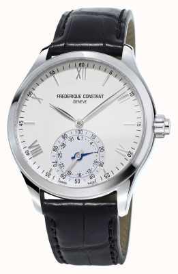 Frederique Constant SmartWatch correa de cuero negro de la relojería de línea blanca FC-285S5B6