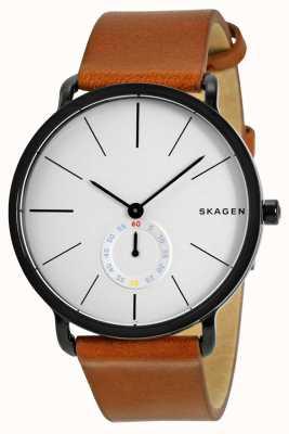 Skagen Hagen reloj correa de cuero de los hombres SKW6216