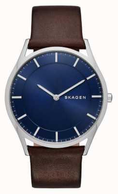 Skagen Holst reloj de cuero marrón SKW6237
