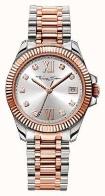 Thomas Sabo de acero inoxidable correa de reloj de plata de la mujer WA0219-272-201-33