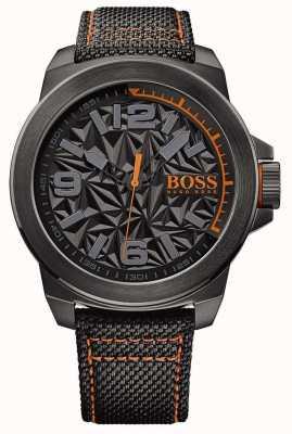 Hugo Boss Orange Para hombre chapado en negro correa de línea gris modelo 1513343
