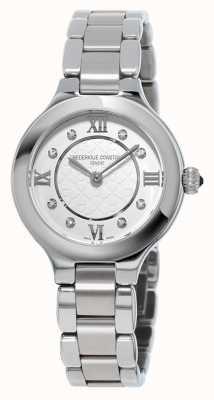 Frederique Constant clásicos para mujer delicias de acero inoxidable conjunto de diamantes FC-200WHD1ER36B