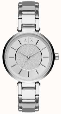 Armani Exchange Para mujer esfera de plata de acero inoxidable AX5315