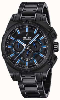 Festina 2016 mens chronobike reloj cronógrafo azul y negro F16969/2