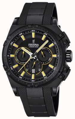 Festina 2016 para hombre reloj cronógrafo chronobike amarillo y negro F16971/3
