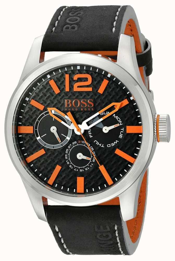 b651470c8508 Hugo Boss Orange Mens París Indicador Analógico De Cuarzo 1513228 ...