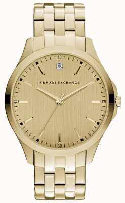 Armani Exchange esfera de oro elegante para hombre Hampton AX2167