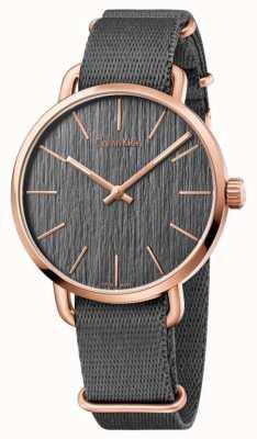 Calvin Klein Mens incluso gris cinturón gris dial K7B216P3