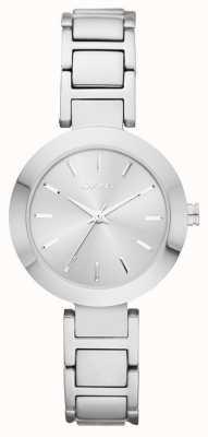 DKNY Womans correa de reloj de plata de plata NY2398