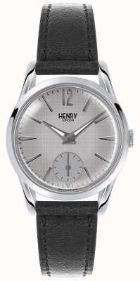 Henry London Womans línea gris correa de cuero gris HL30-US-0073