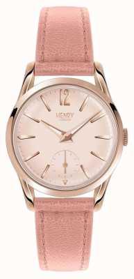 Henry London Womans redondo rosa dial rosa correa de cuero HL30-US-0154