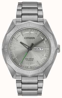 Citizen Mens pulsera de titanio plata dial AW0060-54A