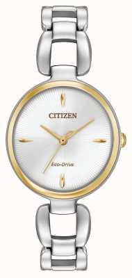 Citizen Para mujer en dos tonos pulsera de acero inoxidable EM0424-53A