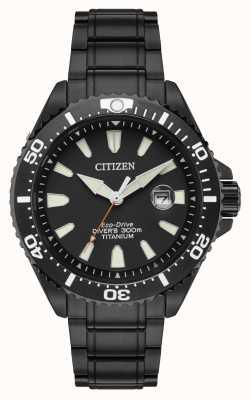 Citizen Royal marines edición limitada titanio de iones de 300m BN0149-57EE