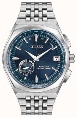 Citizen tiempo del mundo de la onda de satélite GPS esfera azul CC3020-57L