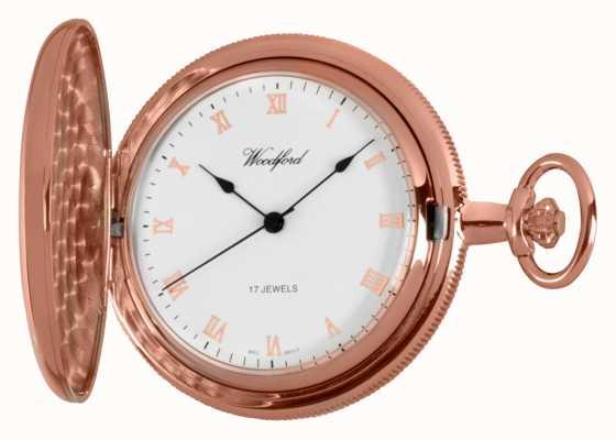 Woodford Hunter llena se elevó reloj de bolsillo de oro 1091