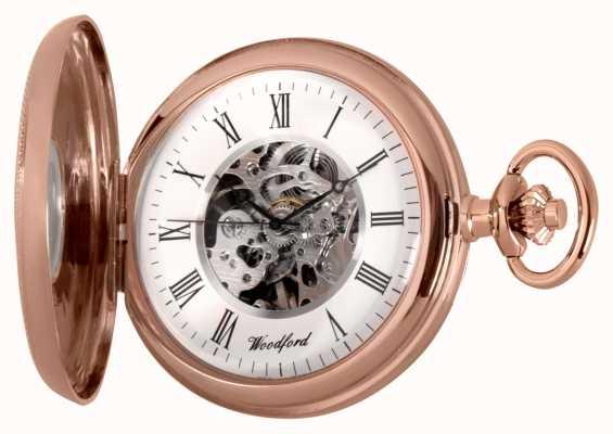 Woodford El | medio cazador | oro rosa | reloj de bolsillo | 1092