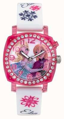 Disney Frozen Elsa y anna lightup pink case correa de silicona blanca FZN3789