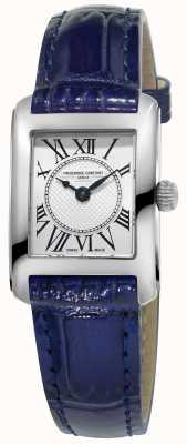 Frederique Constant Para mujer reloj de plata de la correa de cuero azul carree FC-200MC16