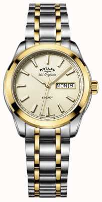 Rotary Mens les originales de acero inoxidable legado GB90174/03