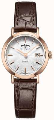 Rotary correa de cuero marrón para mujer les originales Windsor LS90157/02
