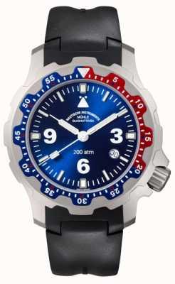 Muhle Glashutte Reloj de goma negro para hombre M1-28-82-KB