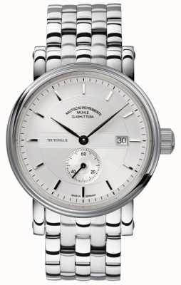 Muhle Glashutte Teutonia ii kleine sekunde de acero inoxidable reloj de plata de banda M1-33-45-MB