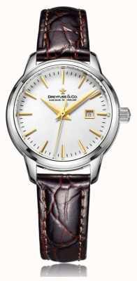 Dreyfuss Las señoras reloj suizo hecho con correa de color marrón DLS00125/02