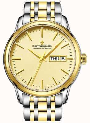 Reloj de los hombres de oro dos tonos Dreyfuss 1890 DGB00126/03