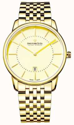 Dreyfuss Para hombre pulsera de oro con la fecha DGB00136/03