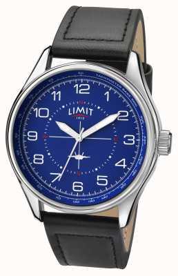 Limit Mens piloto negro correa azul dial 5618.01