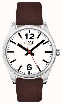 Limit Mens correa de color marrón blanco dial 5629.01