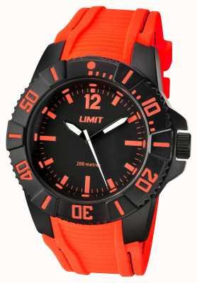 Limit Correa negra naranja activa para hombres 5547.02