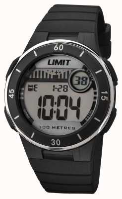 Limit Dial digital unisex de correa negra 5556.24