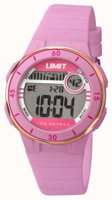 Limit Womans digital dial correa de color rosa 5557.24