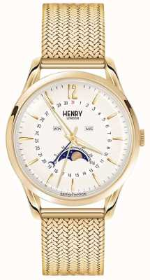 Henry London Pph de oro moonphase para hombre plateado HL39-LM-0160