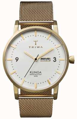 Triwa Unisex marfil klinga oro malla de metal correa KLST103-ME021313