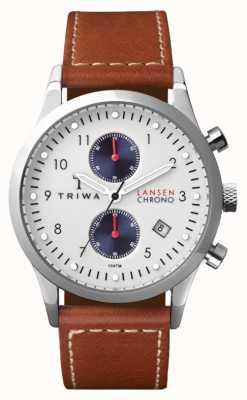 Triwa correa de cuero marrón para hombre del duque Lansen LCST113-SC010215