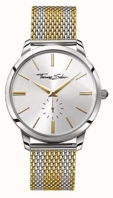 Thomas Sabo Para hombre de espíritu rebelde en dos tonos de oro malla de acero correa de reloj de plata WA0269-282-201-42