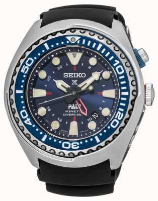 Seiko Prospex un certificado PADI GMT cinética edición especial SUN065P1