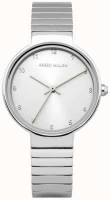 Karen Millen Para mujer esfera de plata de acero inoxidable KM131SM