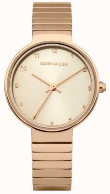 Karen Millen Pulsera para mujer de acero inoxidable chapado en oro rosa KM131RGM