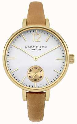 Daisy Dixon Para mujer esfera blanca correa de piel de camello gracia DD026EG