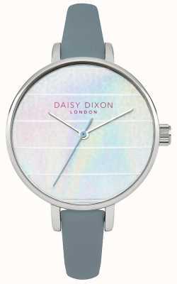 Daisy Dixon Mujeres Kylie correa de cuero azul de línea multicolor DD024US